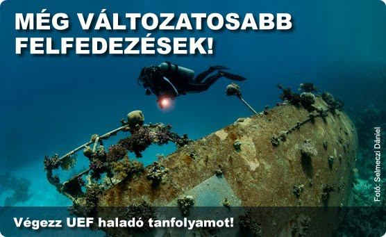 Haladó nyíltvízi búvártanfolyam (Advanced Open Water Diver - AOWD)
